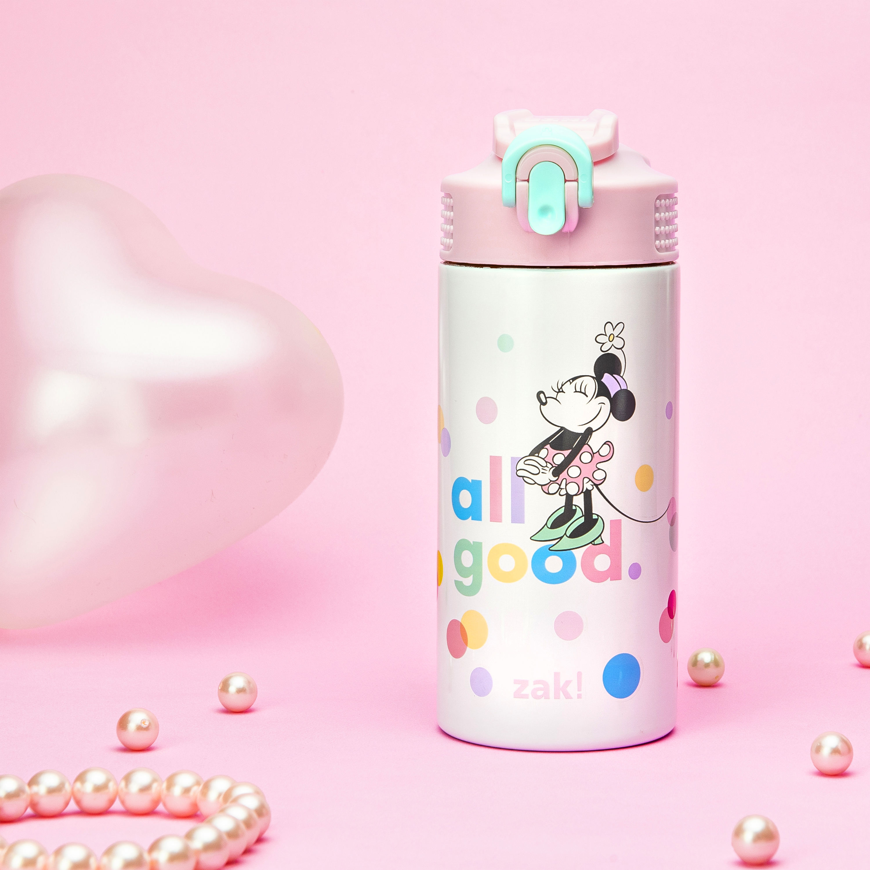 Disney 14 ounce Stainless Steel Vacuum Insulated Water Bottle, Minnie Mouse slideshow image 9