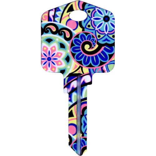 Pampered Girls Pinwheels Key Blank Kwikset 66/97 KW1/10