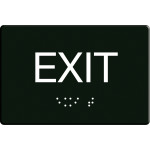 "Exit Sign with Braille (6"" x 9"")"