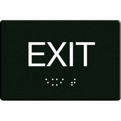 Exit Sign with Braille (6