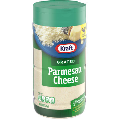Kraft 100% Grated Parmesan Cheese Shaker 8 oz Jar
