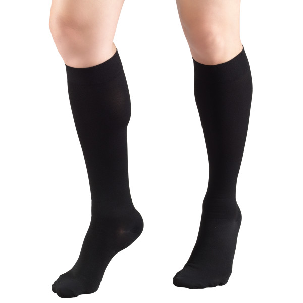 8865 Below Knee Closed Toe Black Stockings