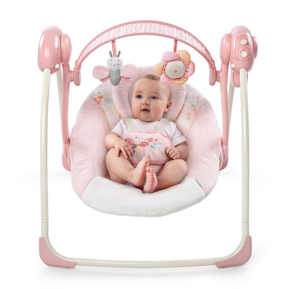 Soothe 'n Delight Portable Swing™ - Felicity Floral™