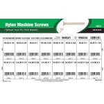"Flat-Head Nylon Machine Screws Assortment (#10-24 thru 1/4""-20 Thread Sizes)"