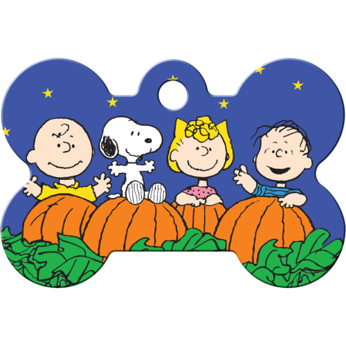 Peanuts Gang Halloween Large Bone Quick-Tag 5 Pack