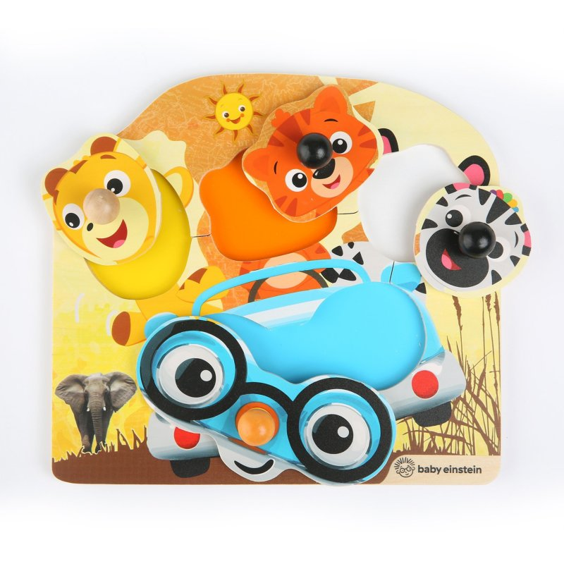 Friendly Safari Faces™ Wooden Puzzle