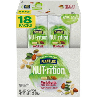 Planters NUT-rition Men's Health Recommended Mix 18 - 1.5 oz Bags