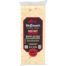 Hoffman's Natural Red Hot Pepper Monterey Jack Cheese 7 oz Wrapper