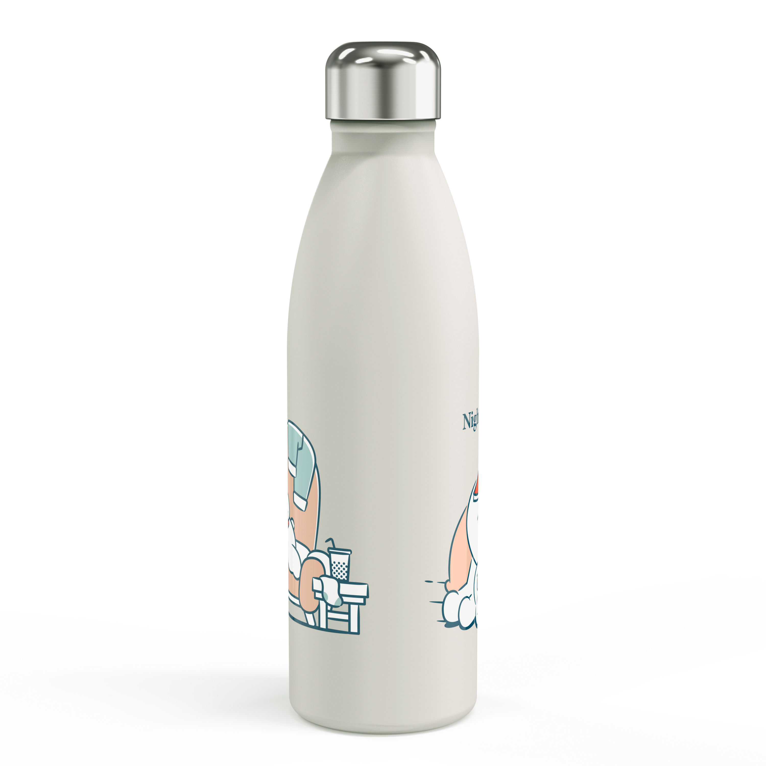 Line Friends 17.5 ounce Vacuum Insulated Stainless Steel Water Bottle, Sleepy Bunny slideshow image 2