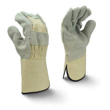 Radians RWG3400WG Side Split Gray Cowhide Leather Glove with Gauntlet Cuff