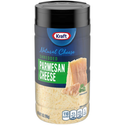 Kraft Shredded Parmesan Cheese Shaker 7 oz Bottle