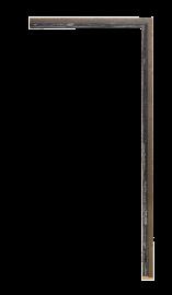 Vermont Fillet Black Granite 1/4