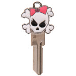 Girly Skull 3D Key Blank