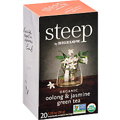 oolong & jasmine green tea - case of 6 boxes- total of 120 teabags