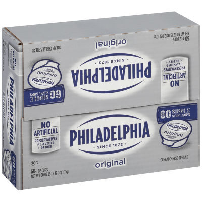 Philadelphia Plain Cream Cheese Spread 60 - 1 oz Cups