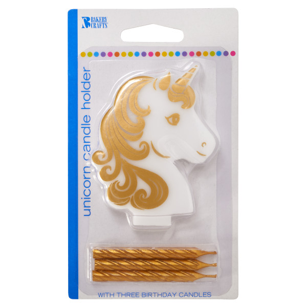 Golden Unicorn Candle Holder