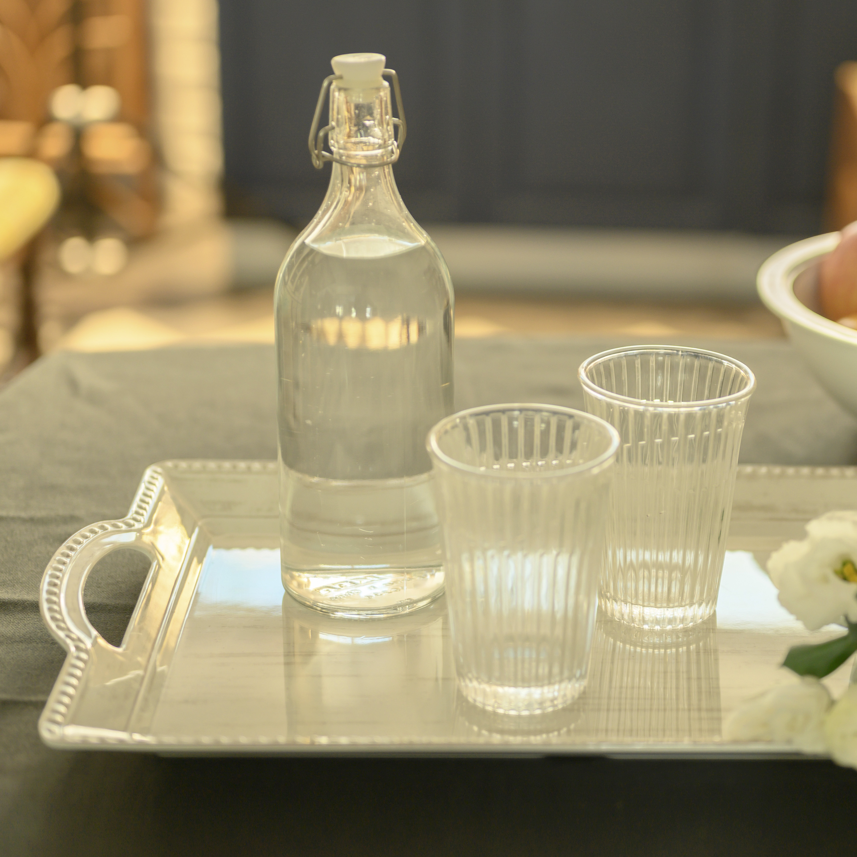 French Country Serving Tray, Oyster slideshow image 2
