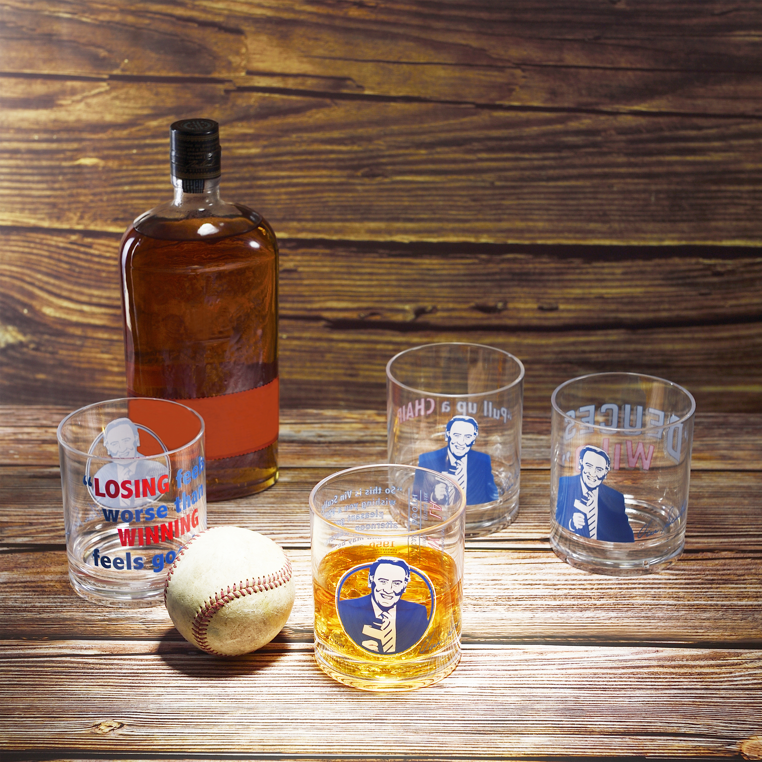 Zak Hydration 14 ounce Plastic Double Old-fashion Glass, Vin Scully, 4-piece set slideshow image 7