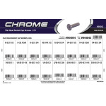 Chrome Flat-Head Socket Cap Screws Assortment (USS)