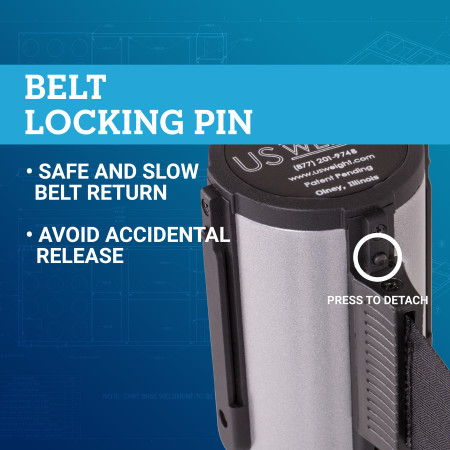 Premium Steel Stanchion - Silver with Blue belt 3