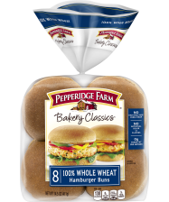 Pepperidge Farm® 100% Whole Wheat Hamburger Buns, split