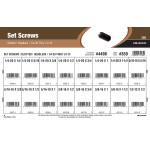 "Slotted Headless Set Screws Assortment (1/4""-20 thru 1/2""-13)"