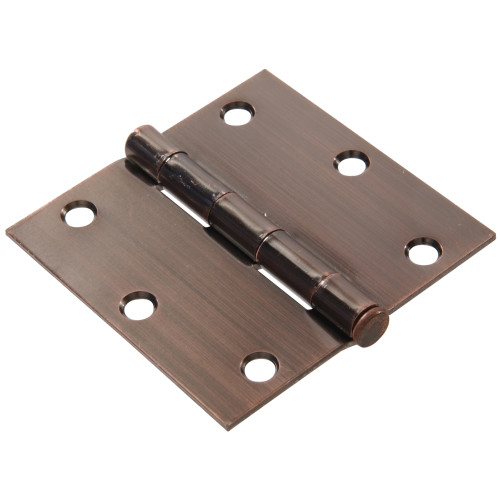 Hardware Essentials Residential Door Hinges with Removable Pin Antique Bronze 3-1/2
