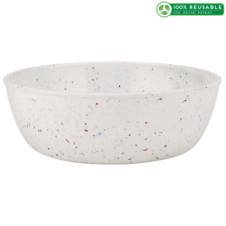 Confetti 3 quart Serving Bowl, Eggshell White slideshow image 1