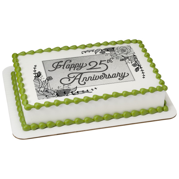 25th Anniversary PhotoCake® Edible Image®
