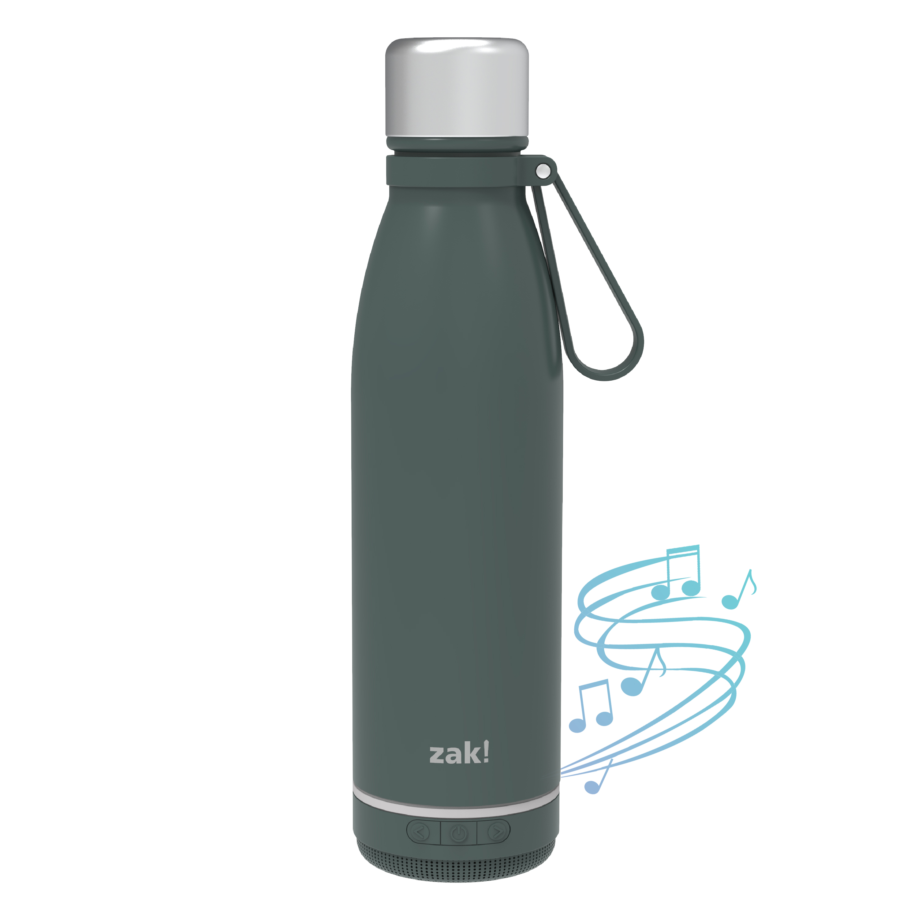 Zak Play 17.5 ounce Stainless Steel Tumbler with Bluetooth Speaker, Gray slideshow image 2