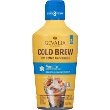 Gevalia Cold Brew Concentrate Vanilla Iced Coffee 32 oz Bottle