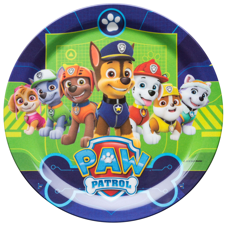 Paw Patrol Kids Dinnerware Set, Chase, Rubble, Rocky, Marshall, Zuma & Skye, 3-piece set slideshow image 9