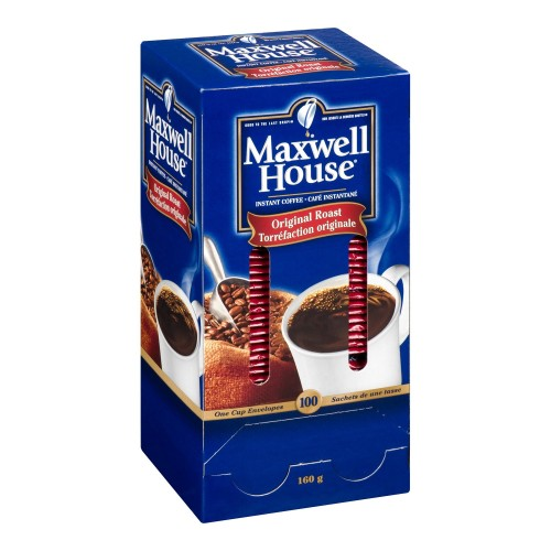 MAXWELL HOUSE Single Serve Original Roast Instant Coffee 1.6g 100 units 5 boxes