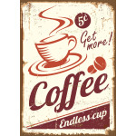 "Aluminum Get More Coffee Sign 10"" x 14"""