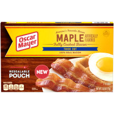 Oscar Mayer Fully Cooked Bacon, Thick Cut Maple, 2.52 oz