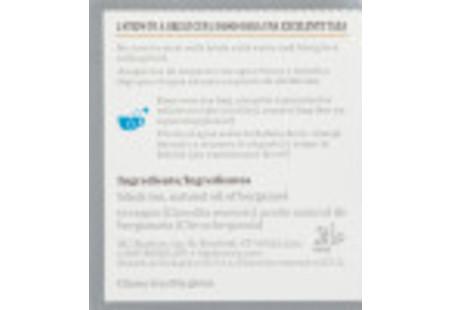 Ingredient panel of Earl Grey Tea box bilingual packaging