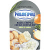 Philadelphia Bagel Chips and Chive & Onion Cream Cheese Dip 2.5 oz Tray