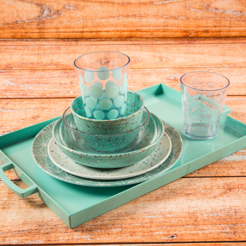 Confetti 24 ounce Soup Bowl, Mint, 6-piece set slideshow image 6