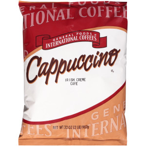 GENERAL FOODS INTERNATIONAL CAFÉ Irish Cream Cappuccino Powder, 2 lb. Container (Pack of 6) image
