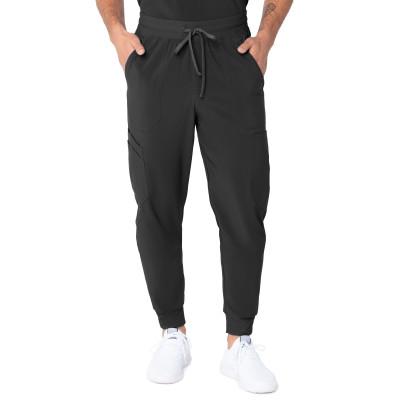 Urbane Performance Seven-Pocket Jogger Scrub Pants for Men: Modern Tailored Fit, Drawstring Medical Scrub Pants 9255FS-