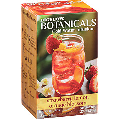 Strawberry Lemon Orange Blossom Cold Water Infusion Caffeine Free Herbal Tea 108 TB (case of 6 boxes
