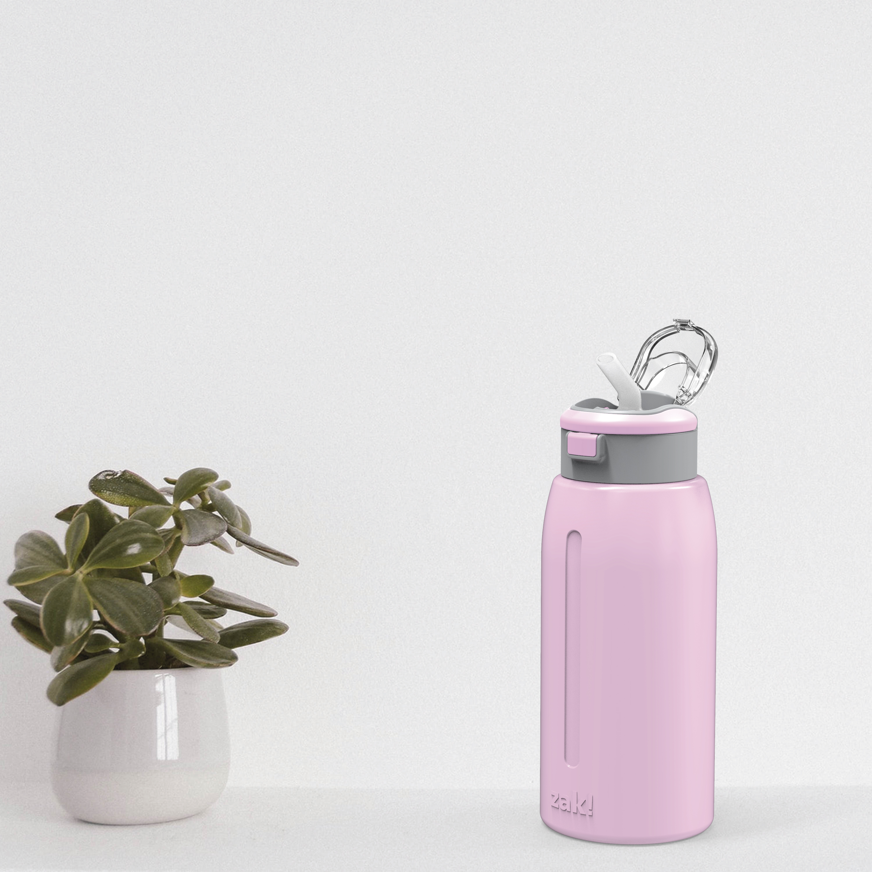 Genesis 32 ounce Stainless Steel Water Bottles, Lilac slideshow image 2