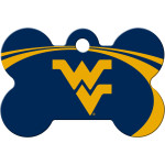 West Virginia Mountaineers Large Bone Quick-Tag
