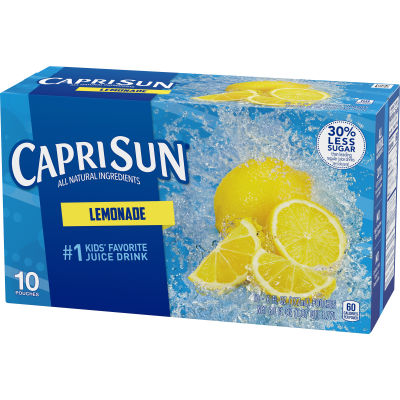 Capri Sun Lemonade Ready-to-Drink Soft Drink 10 - 6 fl oz Pouches