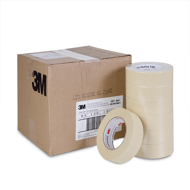 3M™ Automotive Masking Tape, 06547, 36 mm x 55 m, 24 per case