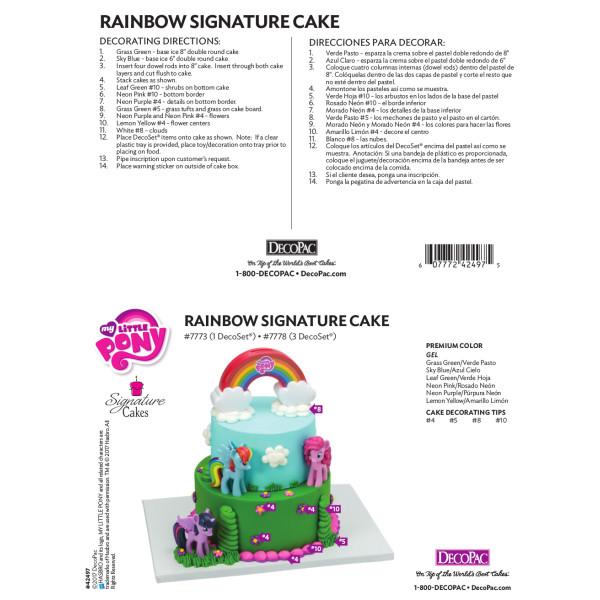 My Little Pony™ Rainbow Signature Cake Decorating Instruction Card