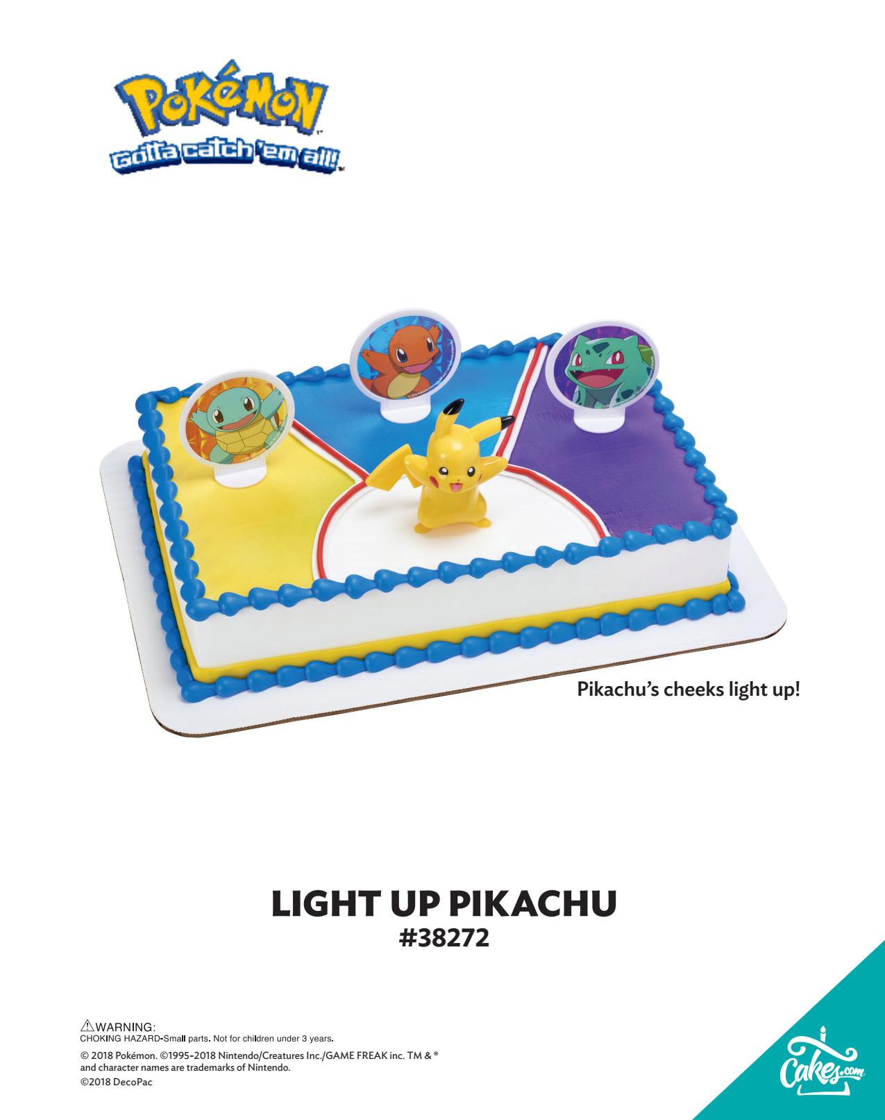 Pok 233 Mon Light Up Pikachu Decoset 174 The Magic Of Cakes