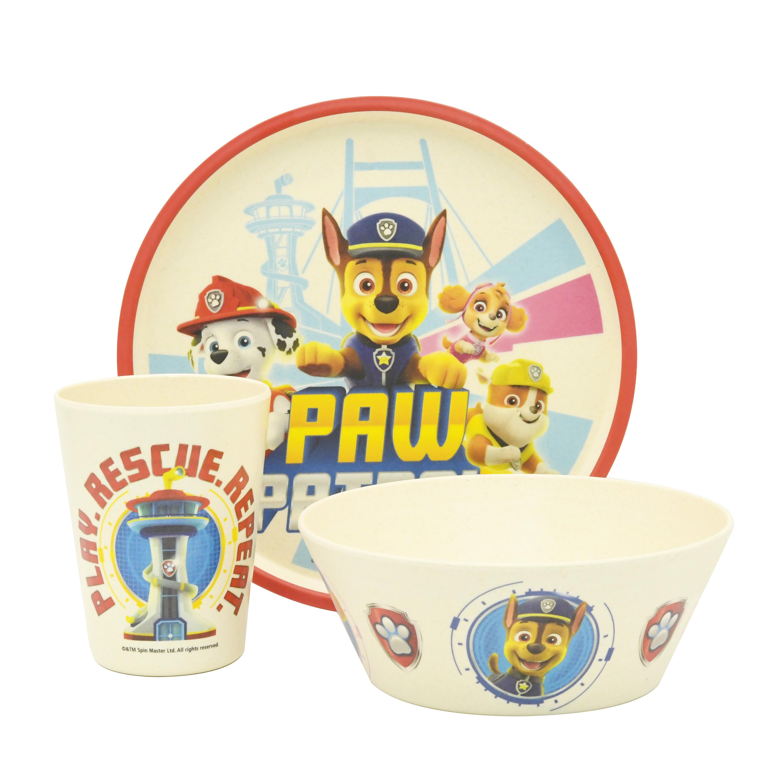 Paw Patrol Kids 3-piece Dinnerware Set, Chase, Marshall & Friends, 3-piece set slideshow image 2