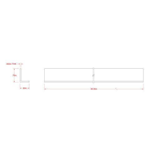SteelWorks Aluminum Offset Angle (1/2