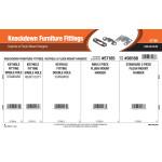 Knockdown Furniture Fittings Assortment (Keyhole & Flush Mount Hangers)